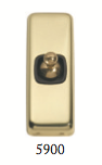 Tradco 'TOGGLE SWITCH' Polished Brass Brown 5900 30mm x 82mm
