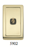Tradco 'TOGGLE SWITCH' Polished Brass Brown 5902 72mm x 115mm