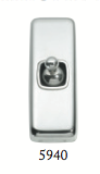 Tradco 'TOGGLE SWITCH' Chrome Plate 5940 30mm x 82mm