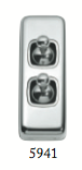 Tradco '2 TOGGLE SWITCH' Chrome Plate 5941 30mm x 82mm