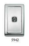 Tradco 'TOGGLE SWITCH' Chrome Plate 5942 72mm x 115mm