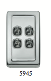 Tradco '4 TOGGLE SWITCH' Chrome Plate 5945 72mm x 115mm