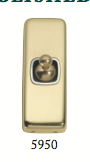 Tradco 'TOGGLE SWITCH' Polished Brass 5950 30mm x 82mm