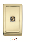 Tradco 'TOGGLE SWITCH' Polished Brass 5952 72mm x 115mm