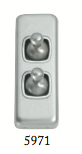 Tradco '2 TOGGLE SWITCH' Satin Chrome 5971 30mm x 82mm