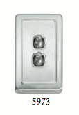 Tradco '2 TOGGLE SWITCH' Satin Chrome 5973 72mm x 115mm