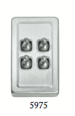 Tradco '4 TOGGLE SWITCH' Satin Chrome 5975 72mm x 115mm