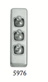 Tradco '3 TOGGLE SWITCH' Satin Chrome 5976 30mm x 108mm