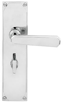 DELF ARCHITECTURAL CP ART DECO LEVER LATCH FURNITURE (Privacy Set # 201 installed 