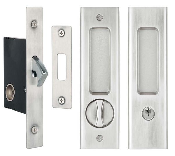 DELF ARCHITECTURAL SLIDING DOOR LOCK SET - SN -  SQUARE