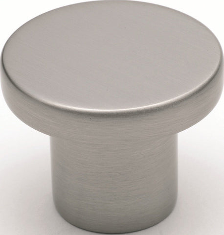 Tradco 'CUPBOARD KNOB' Satin Nickel 7186 38mm