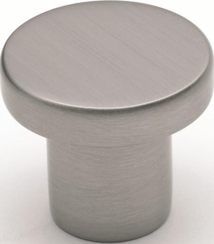 Tradco 'CUPBOARD KNOB' Satin Nickel 7187 32mm
