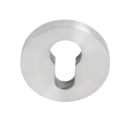 Tradco 'STAINLESS STEEL' 316 MARINE ROUND EURO ESCUTCHEONS (PAIR) 53mm 8442