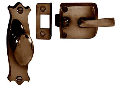 DELF ARCHITECTURAL FB    SCREEN DOOR LATCH ASSEMBLY (FANCY) D8451FB