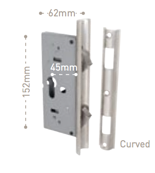 Tradco Locks - External - Sliding Door Lock 8513