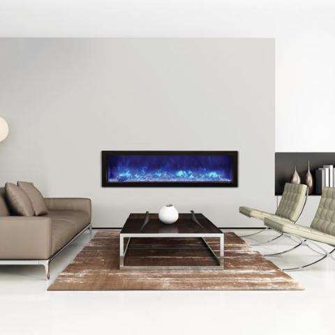 "Amantii SLIM Electric Fireplace - Indoor/Outdoor 152cm (60"")"