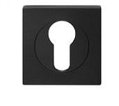 DELF ARCHITECTURAL EURO ESCUTCHEON PAIR SQUARE - SATIN BLACK DBZ590B