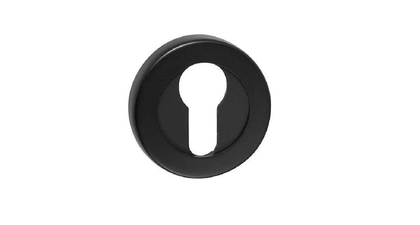 DELF ARCHITECTURAL EURO ESCUTCHEON PAIR ROUND - SATIN BLACK