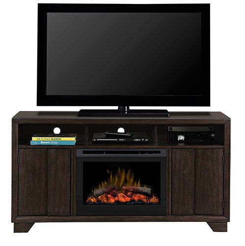 Dimplex Bayne 1.2kW Optiflame 25 inch Electric Fire with Entertainment Cabinet