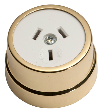 Tradco 'TRADITIONAL SOCKET' Polished Brass White 5480