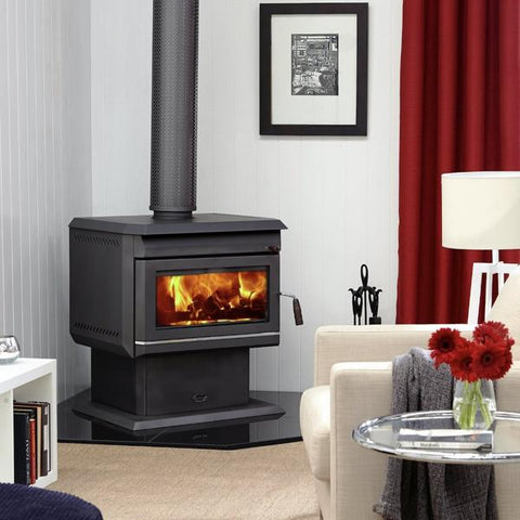 Clean Air Large Freestanding Console Wood Heater