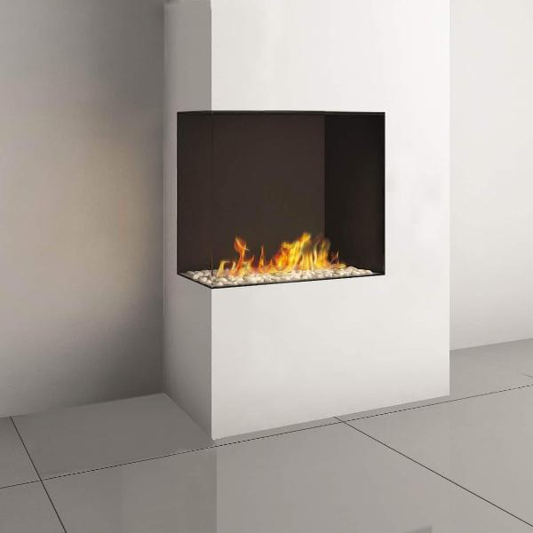 Ortal Corner Clear 75H Right/Left Side Gas Fireplace