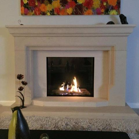 Ortal Front Facing Clear 75 x 65 Gas Fireplace
