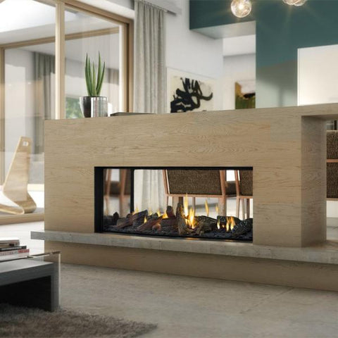 Escea gas fireplaces modern fireplace expert best for Double sided fireplace price