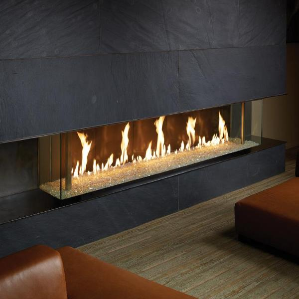 Ortal Three Sided Clear 110H TS Gas Fireplace