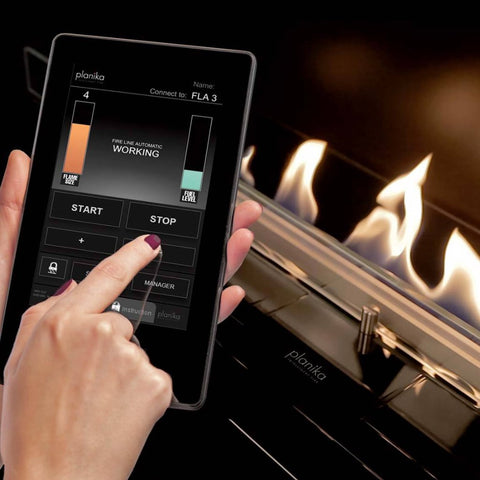 Fire Line Automatic 3 XL in Casing A - Intelligent Bio Fireplaces