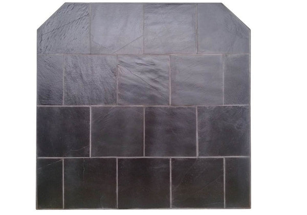 Hearth Black Multi Coloured Slate 1200 x 1200