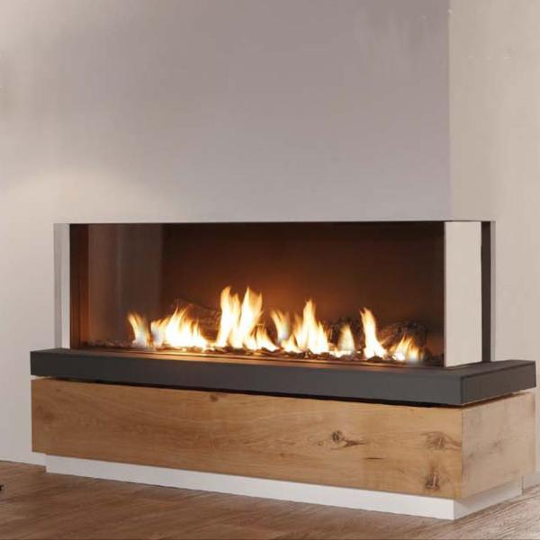 Ortal Three Sided Clear 200H TS Gas Fireplace