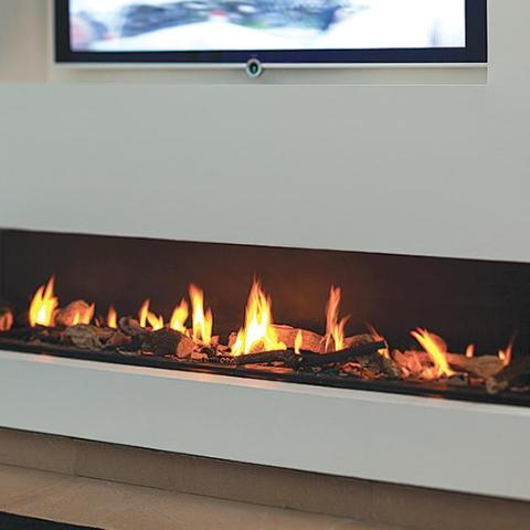 Ortal Three Sided Clear 250 TS Gas Fireplace