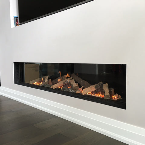 Ortal Front Facing Clear 200 Gas Fireplace
