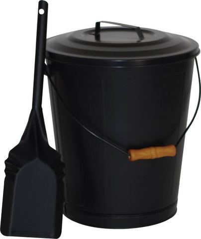 Melton Craft Fire Bucket and Shovel - JC003BK
