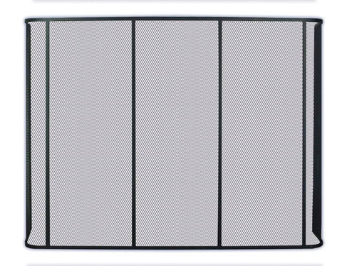 Melton Craft Single firescreen large H76cm x W120cm - JC1830BK