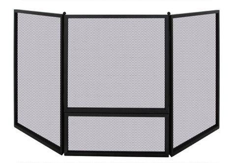 Corner Melton Craft Mesh Nursery Guard Fire Screen L169cm x W55cm x H81cm -  JC2828CRBK