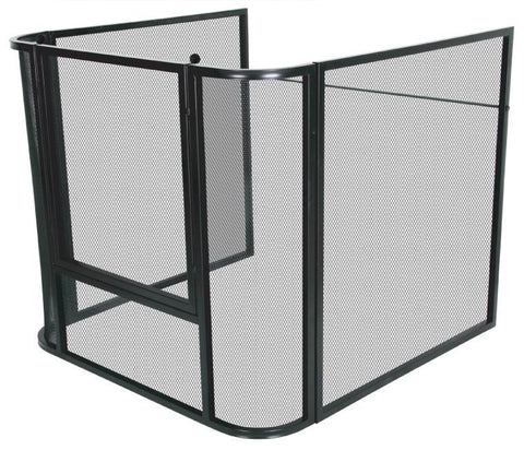 Large Melton Craft Mesh Nursery Fire Screen Guard L126cm x W126cm x H80cm -  JC2828LBK