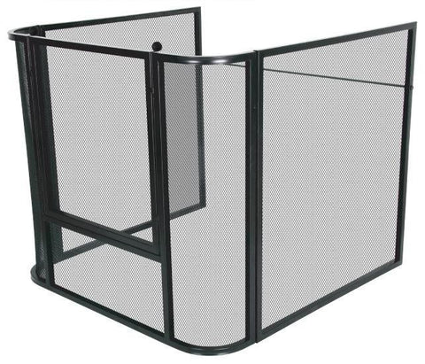 Melton Craft Small mesh nursery guard firescreen L90cm x W90cm x H80cm - JC2828SBK