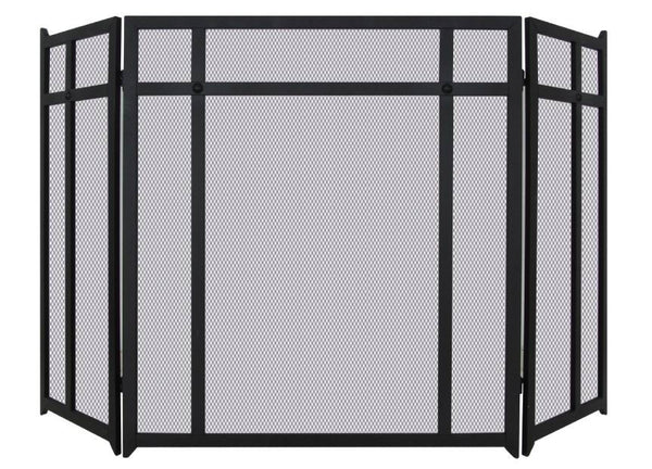 Melton Craft 3 Panel Black Firescreen H67cm x W100cm -  JC381BK