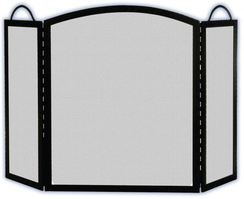 Melton Craft Birmingham screen - Black H83cm x W130cm -  JC382BK