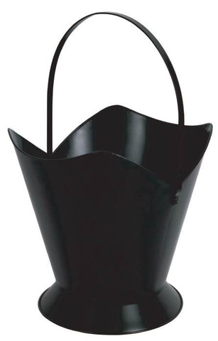 Melton Craft Large Fire Wood Bucket Black - JC512BK