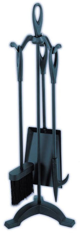 Melton Craft Black 3 Piece Fire Tool Set Loops - JC5BK