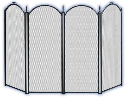 Melton Craft 4 Panel Black Firescreen -  JC8BKFM