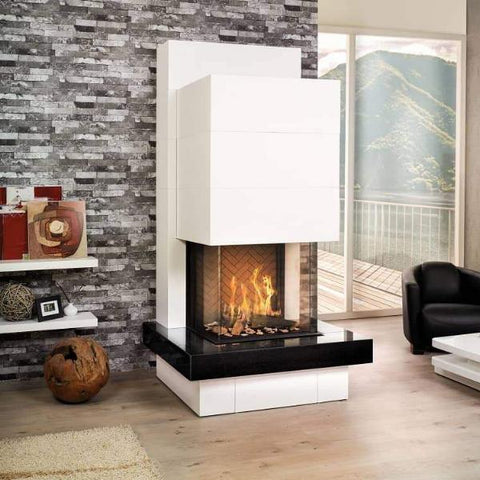 Ortal Three Sided Clear 75H TS Gas Fireplace