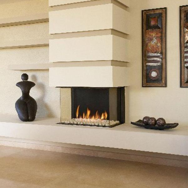 Ortal Three Sided Clear 75 TS Gas Fireplace