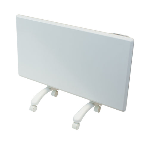 NOBO - 1kW 'Oslo' Panel Heater with Castors, Thermostat & Timer - White Finish