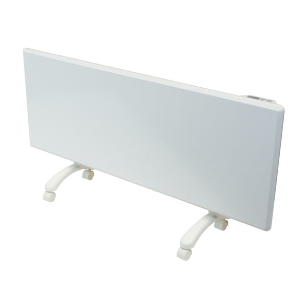 NOBO - 1.25kW 'Oslo' Panel Heater with Castors & Thermostat - White Finish