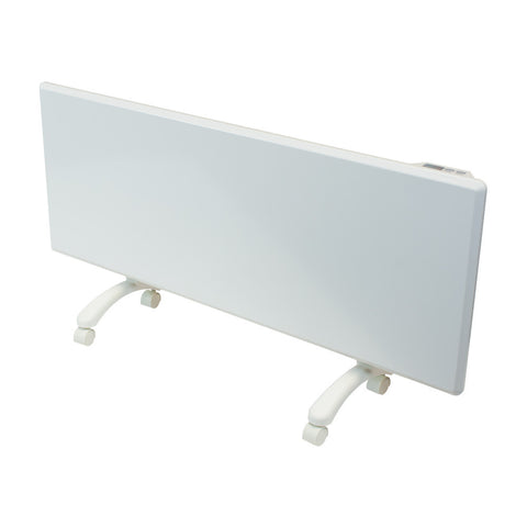 NOBO - 1.25kW 'Oslo' Panel Heater with Castors, Thermostat & Timer - White Finish