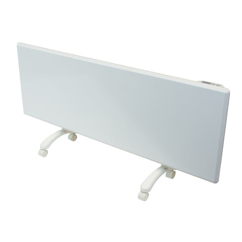 NOBO - 2kW 'Oslo' Panel Heater with Castors & Thermostat - White Finish